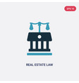 two color real estate law icon from law and vector image