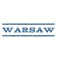 Warsaw Watermark Stamp vector image vector image
