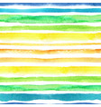 watercolor strips seamless patternblue green vector image vector image