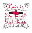 wedding quotes and slogan good for t-shirt love vector image
