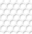 White paper hexagon seamless pattern background vector image vector image