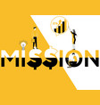 word concept mission and people doing promotional vector image