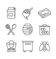 flat honey icons vector image