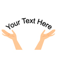 hands with space for your text vector image