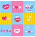 Retro Love Cards vector image