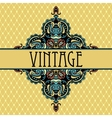 Elegance luxuuy vintage vignette design vector image