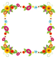 A flowery border design vector image vector image