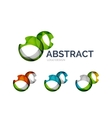 Abstract bubbles logo design made of color pieces vector image vector image