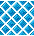 Abstract diamond blue seamless background vector image