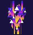 abstract geometric background with triangles in vector image vector image