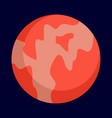 abstract planet icon flat style vector image