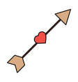 arrow love heart cupid romance image vector image vector image