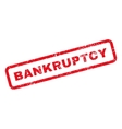 Bankruptcy Text Rubber Stamp vector image vector image