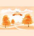 beautiful autumn nature background with a goldl vector image