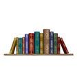 books on shelf wall sticker vector image vector image