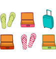 business and family vacation travel luggage and vector image