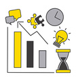 business statistics vector image