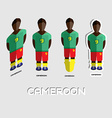 Cameroon Soccer Team Sportswear Template vector image vector image