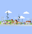 cellular towers in city vector image vector image