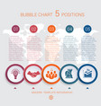 charts infographic step by step 5 positions vector image vector image