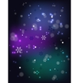 Christmas snowfall on a dark base EPS10 vector image