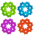 Colorful cogwheels vector image