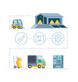 delivery service infographic icons vector image