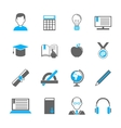 E-learning icon set vector image vector image