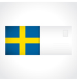 Envelope with Swedish flag card vector image vector image
