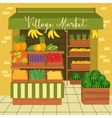 Farmers market Street food vector image