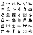 fashion clothes icons set simple style vector image vector image