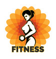 fitness club creative emblem vector image vector image