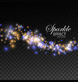 glittering shiny stream of sparkles vector image vector image