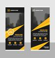 Gold roll up business brochure flyer banner design vector image vector image