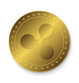 golden ripple coin vector image vector image