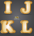 IJKL vector image vector image