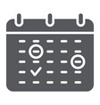 important date glyph icon month and day calendar vector image