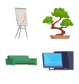 isolated object furniture and work icon set of vector image vector image