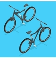 Isometric modern sport bicycle isolated on white vector image vector image