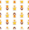 king and queen seamless pattern vector image