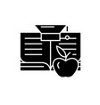 knowledge learning black icon sign on vector image vector image