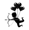 love cupid flying cartoon vector image vector image