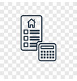 mortgage concept linear icon isolated on vector image