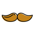 mustache hipster fashion vintage image vector image vector image