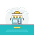 open online store vector image