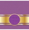 Ornate golden lilac background for presentation or vector image