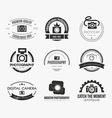 Photography Logos vector image vector image