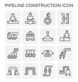 pipeline construction icon vector image vector image