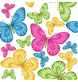 seamless background bright colorful butterflie vector image vector image