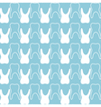 seamless teeth pattern vector image vector image